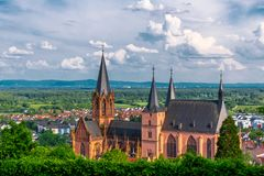 Church in Oppenheim, Germany royalty free stock photo