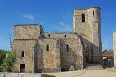 The Church at Oradour sur Glane, France Stock Images