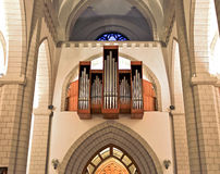 Church organ. Organ in roman catholic church Royalty Free Stock Images