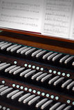 Church organ. Photo of a old Church organ in Sweden Stock Image