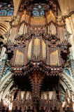 Church organ. In the Ely Cathedral, Cambridgeshire, England Stock Photos