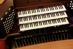 Church Organ. Image of a organ inside a church Royalty Free Stock Photos