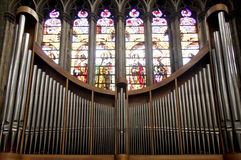 Church Organ. In Basilica of Echternach in Luxembourg Royalty Free Stock Images