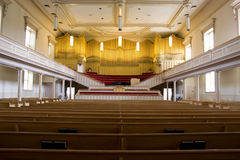 Church with organ Royalty Free Stock Image