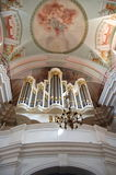 Church organ. Pipe organ in a church Royalty Free Stock Photos