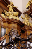 church organ baroque details Stock Photography