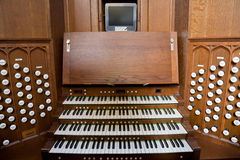 Church Organ Console Royalty Free Stock Photo