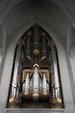 Church organ Hallgrimskirkja Stock Photography
