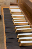 Church organ keyboard Royalty Free Stock Photos