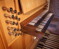 Church organ keyboard Stock Photography