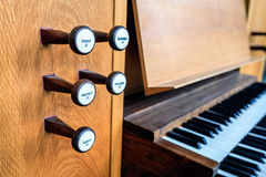 Church organ keyboard Stock Image