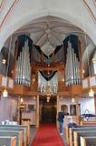Church organ in Nederluleå Church Royalty Free Stock Photos