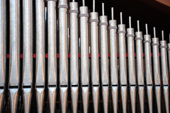 Church organ pipes Royalty Free Stock Photos