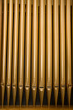 Church Organ Pipes. In a row royalty free stock images