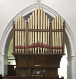 Church organ pipes Stock Photo