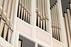 Church organ pipes Royalty Free Stock Photo