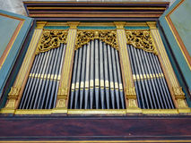 Church organ pipes Stock Images