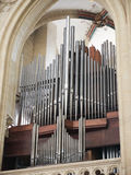 Church Organ pipes, vertical view. Stock Images