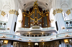 Church organ. In the St. Michaelis church, Hamburg, Germany Royalty Free Stock Photography