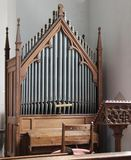 Church Organ. Stock Photo