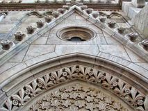 Church ornaments in the Buda Castle in Hungary, Budapest.  stock image