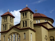 Church. Orthodox church with crosses on the tops Royalty Free Stock Photography