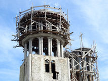 Church orthodox dome construction site Stock Photos