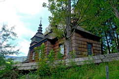 Church. Orthodox church surrounded by trees Stock Images