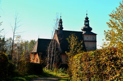 Church. Orthodox church surrounded by trees Stock Photos