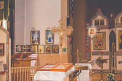 Church orthodox wedding ceremony. Bride Royalty Free Stock Images