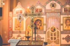 Church orthodox wedding ceremony. Bride Royalty Free Stock Photos