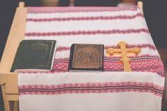 Church orthodox wedding ceremony. Bride Stock Photography