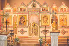 Church orthodox wedding ceremony. Bride Royalty Free Stock Photography