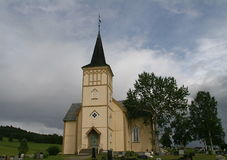 Church, Os Hedmark, Norway Stock Photography