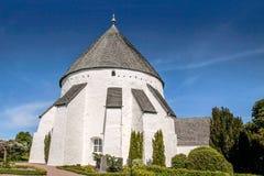 The church Osterlars Kirke on Bornholm. Denmark royalty free stock images