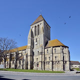 Church of Ouistreham in France Stock Image