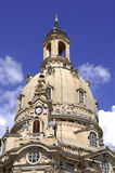 Church of Our Lady. After reconsecration the Church of Our Lady in Dresden is one of the most famous touristc attraction Royalty Free Stock Images