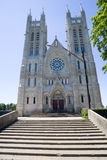 Church of our Lady. Looking up at the Church of Our Lady. Guelph, Ontario, Canada Stock Photo