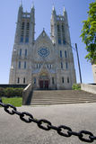 Church of our Lady. Looking up at the Church of Our Lady. Guelph, Ontario, Canada Royalty Free Stock Image