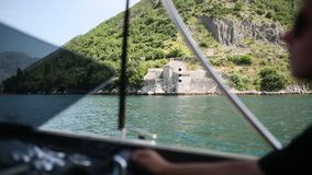 Church of Our Lady of the Angels in Donji Stoliv, Montenegro, Ko. Tor Bay, the Balkans, the Adriatic Sea stock video