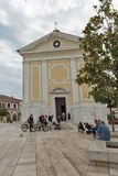 Church of Our Lady of Angels. Freedom Square, Porec, Crioatia. Royalty Free Stock Images
