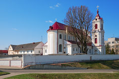 The Church of Our Lady of Angels and the Monastery in Grodno. Stock Photos