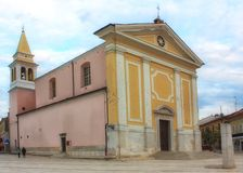 Church of Our Lady of Angels in Porec, Istria, Croatia. Porec is a small mediterranean town and beautiful tourist destination stock photo