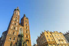 Church of Our Lady Assumed into Heaven also known as St. Mary's Church (Kosciol Mariacki) in Krakow Royalty Free Stock Image