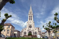 Cathedral of Our Lady of the Assumption in Gap, France stock photos