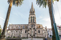 Church of Our Lady of the Assumption in Torrelavega. Spain Stock Images