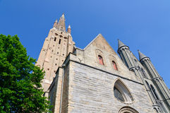 The Church of Our Lady in Bruges, Belgium Stock Photography