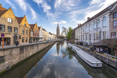 Church of our lady in Bruges, Belgium royalty free stock photo