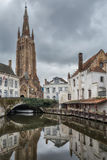 Church of Our Lady, Bruges. Bruges - Belgium jewel and one of the most romantic cities on earth Stock Photography