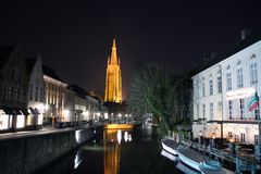 Church Of Our Lady in Bruges, Belguim Stock Images